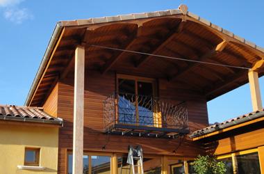 Ossature Bois Maison ossature bois à Chatuzange le Goubet