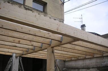 Surélévation - Extension Création d'une extension en ossature bois