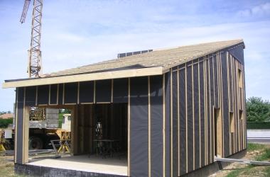 Ossature Bois Maison à ossature bois à La Baume d'Hostun