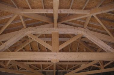 Charpente bois Salle polyvalente réalisée pour une commune