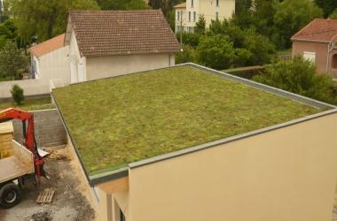 Couverture - Zinguerie Toiture végétalisée sur locaux communaux à Cruas