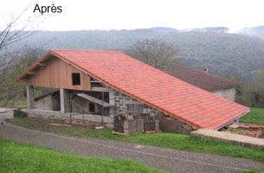 Rénovation - Réhabilitation Avant / Après la rénovation d'un abri